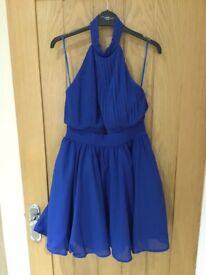 Misguided blue puff ball dress, size 10