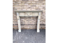 FIREPLACE PAINTED FRENCH CHATEAU STYLE SOLID PINE SURROUND