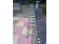 PAIR OF STAINLESS STEEL LADDERS, 2 X 11 foot