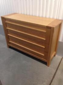 Marks & Spencer Sonoma 4 Wide Drawer chest of drawers sideboard Laura Ashley habitat John Lewis loaf