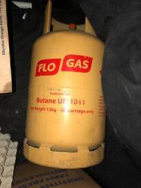 Empty calor gas flo gas bottle