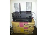 Nad stereo 3020 amplifier and 4020a tuner radio in original boxes
