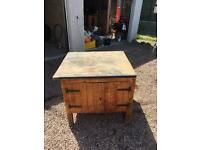 Antique college woodworking bench