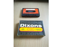 DIXONS LOW NOISE 60 VINTAGE BLANK AUDIO CASSETTE TAPE CAN POST TO ANYW