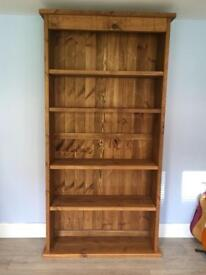 Rustic tall bookcase/shelving unit