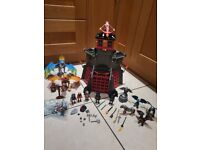 Playmobil dragons castle and extra accessories and large dragons boxed