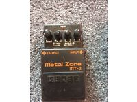 Boss metal zone MT2 distortion pedal