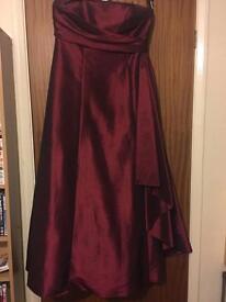 Deep red prom dress