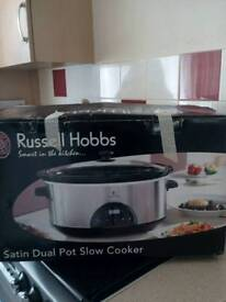 Russell Hobbs 6lt slow cooker dual new