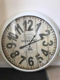 Large wall clock vintage style