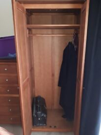 2 double wardrobes.