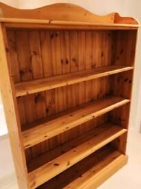 Beautiful pine wooden bookcase shelves shelving unit