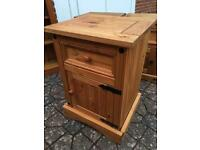 Large pine side table / cupboard