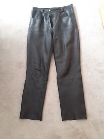 Leather black laford size 12 bike trousers