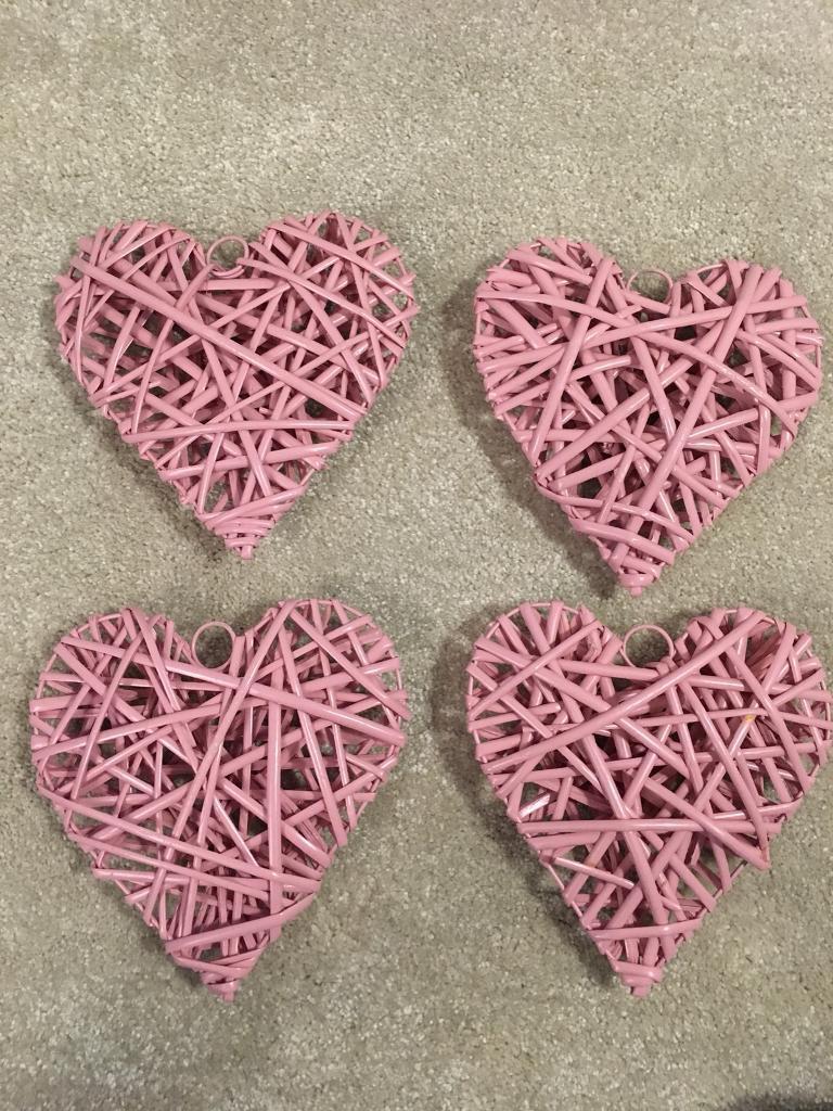 Pink Wicker Hearts Wedding