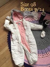 Baby girl snowsuit 2-3 / 98