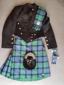 Full Mens kilt outfit - Flower of Scotland tartan