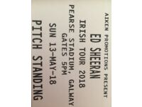 2 x Ed Sheeran tickets Galway