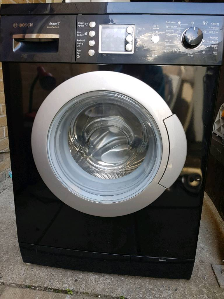 Reconditioned Black Bosch Washing Machine, 12 Months warranty, Free