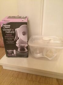 Tomme Tippee manual breast pump £10 (used once, but bottle removed for hygiene purposes)