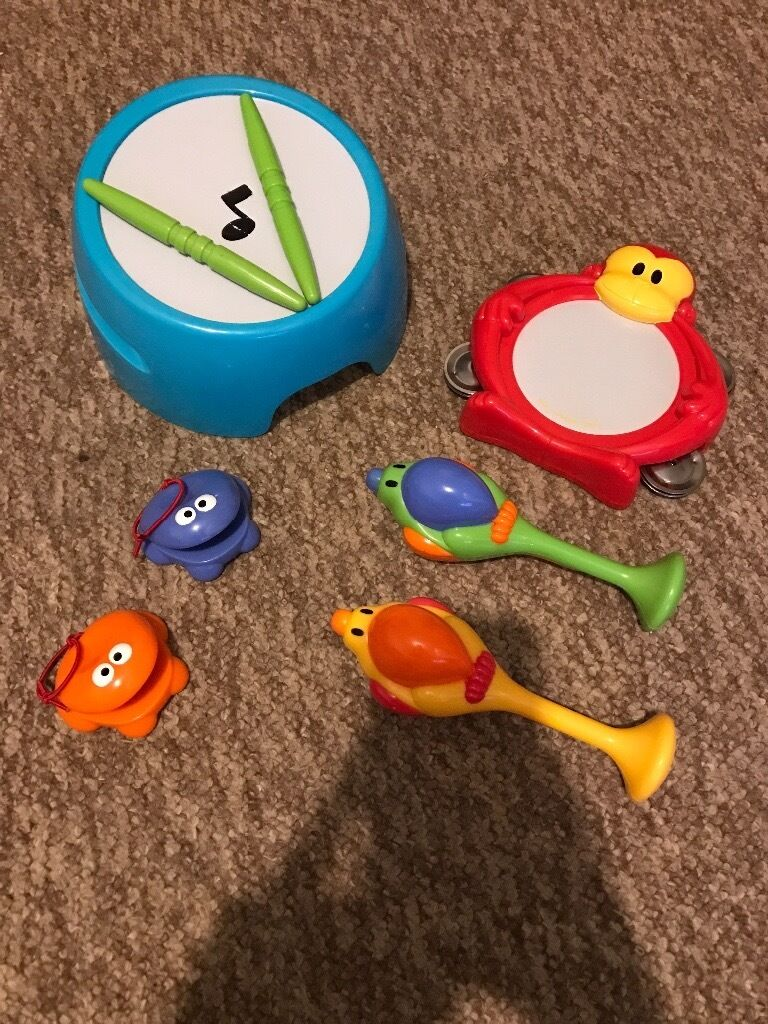 ELC EARLY LEARNING CENTRE JUNGLE BEATS BABY TODDLER MUSICAL TOY SET ...