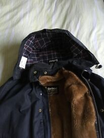 Only worn a few times blue ladies Border Barbour jacket size 38 ''