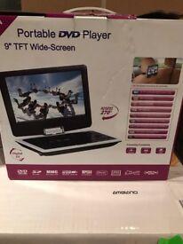 Portable TVDVD player