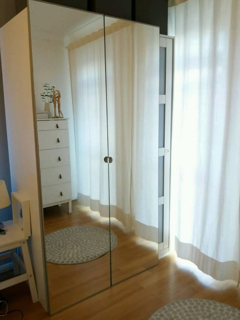 IKEA PAX Double Wardrobe * Mirror doors | in Luton, Bedfordshire ...