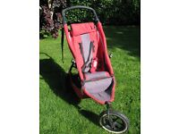 E3 Phil & Teds Sport Inline Double Buggy 2nd seat Incl, red & black WORN (see pics) no hood