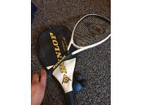 Dunlop Squash Racket + case + 3 balls