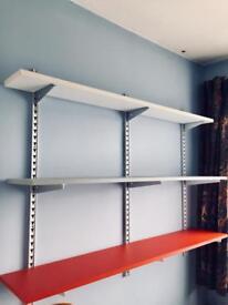 Three Solid Shelves & Wall Brackets.
