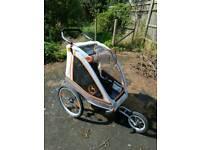 Bluebird bike trailer jogger two child