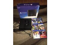 Ps4 console with box and games