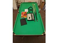 Hy_pro 6ft folding snooker and pool table with all accessories