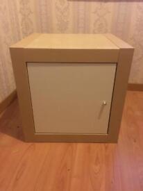 Ikea Kallax 1x1 + 1 door insert Bedside Table
