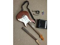 Electric Guitar and Amplifier Set
