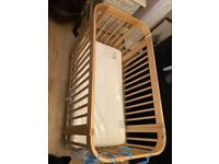 Kub Baby cotton un-used with new mattress