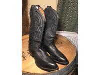 Tony Lama Classic Black Cowboy Boots