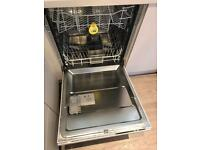 White integrated dishwasher