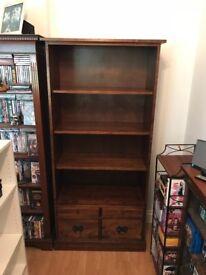 Laura Ashley *GARRAT CHESTNUT 4 DRAWER BOOKCASE* bookshelf/storage cabinet/display cabinet w/drawers