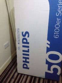 """Boxed and sealed brand new Philips 50"""" 6100er Serie tv"""