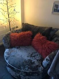 Pink fluffy cushions
