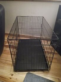 36inch dog cage two doors good condition