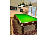Beautiful Antique Snooker Table, Burroughs & Watts 3/4 (5.1ft x 9.5ft), with many accessories