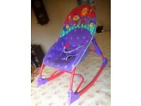 Fisher price vibrating musical rocking chair / baby bouncer