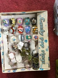 Huge costume jewellery clearance, includes necklaces, rings, bracelets, brooches. SOLD AS A LOT