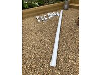 guttering parts mainly square white OSMA plus other make(s)