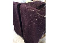 Deep Purple patio door curtains (fully lined)