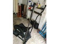 Gym equipped meant weights bench cross trainer