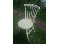 Upcycled, shabby chic, hardwood, vintage chair.